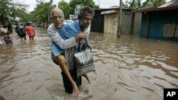 斯裡蘭卡遭受洪災襲擊。