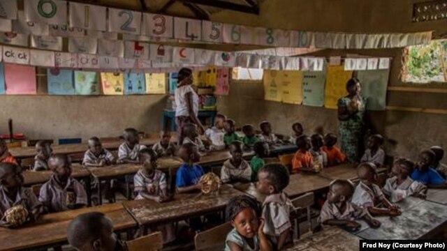Students at the Lira Integrated School in Lira, Uganda.