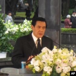馬英九總統在會中講話