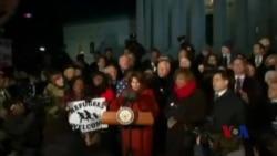 怼上禁令 民主党议员加入全美范围抗议行列