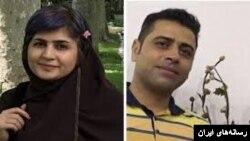 سپیده قلیان فعال مدنی و اسماعیل بخشی فعال کارگری بازداشت شده در این ایران