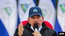 El presidente de Nicaragua, Daniel Ortega, durante un discurso en Managua el 19 de julio de 2020.