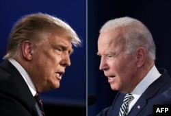 President Donald Trump and Vice-President (D) Joe Biden