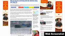 VOV cho biết cảng Nghi Sơn có hợp đồng nạo vét với công ty TNHH Hiệp Thành và số chất thải trên là bùn, đất nạo vét luồng lạch của cảng này.
