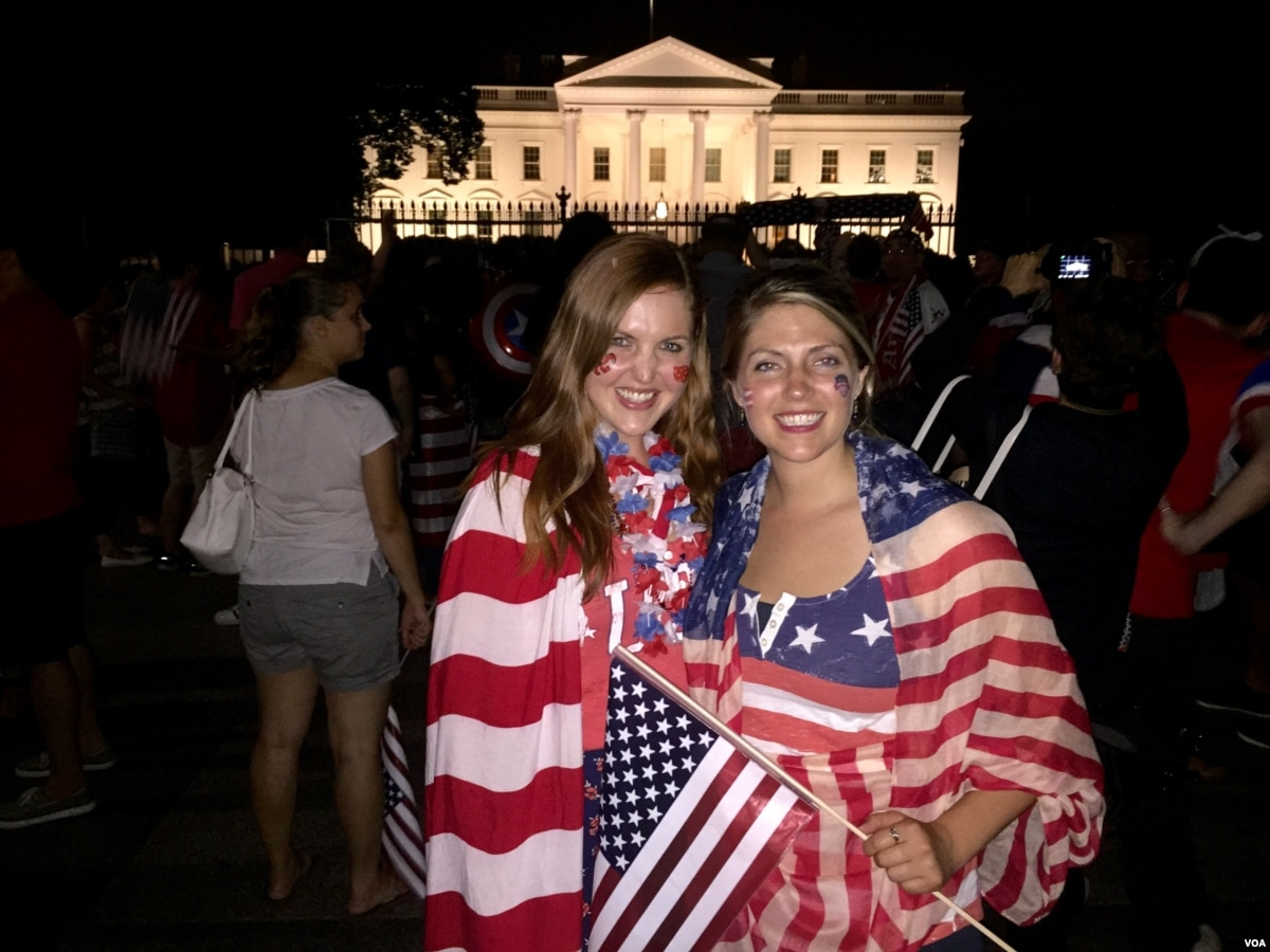 Elated Us Soccer Fans March To White House