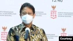 Ketua Satgas PEN Budi Gunadi Sadikin dalam telekonferensi pers di Istana Kepresidenan, Jakarta, Rabu, 25 November 2020, mengatakan pihaknya realokasi anggaran untuk program vaksinasi massal (Biro Setpres).