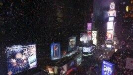 Proslava Nove godine na Tajms skveru u Njujorku