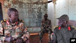 SPLA troops stationed at Unity Oil Field, near front lines, Heglig, Sudan, April 14, 2012.