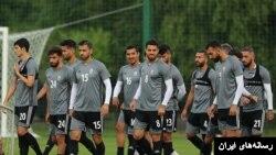 قوچان نژاد با شماره ۱۶ و آزمون با شماره ۲۰ در تمرین تیم ملی فوتبال ایران در روسیه