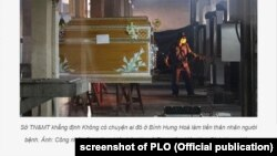 Hình ảnh một cơ sở hỏa táng đăng trên Pháp Luật Thành Phố Hồ Chí Minh (PLO).