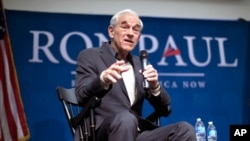 Ron Paul speaks at a campaign stop at the University of New Hampshire, Jan. 6. (AP)