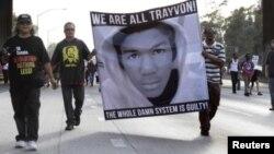 Trayvon Martin'in öldürülmesi davasında sanığın beraat etmesi Amerika'nın dört bir yanında protesto eylemlerine yol açtı