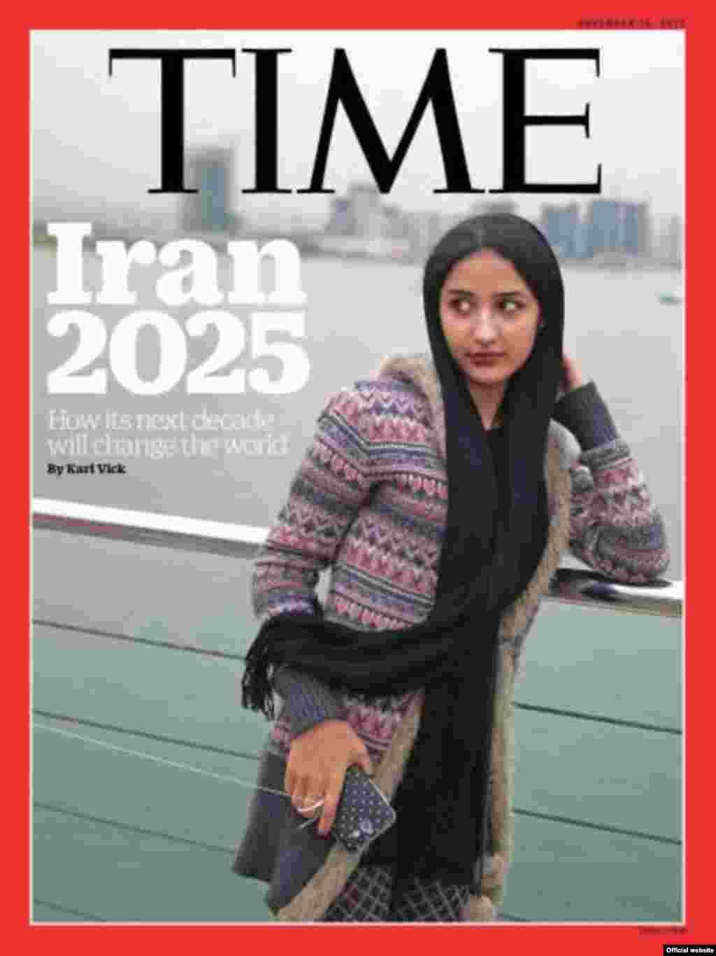 انتخاب عکس یک زن جوان ایرانی روی مجله تایم از وقایع مهم سال ۲۰۱۵ بود. نویسنده تایم نوشته بود بعد از توافق هسته ای، ایران اگر در مسیر بهبود قرار بگیرد، ایران ۲۰۲۵ می تواند یک قدرت جهانی باشد.