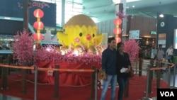 马来西亚庆祝中国农历鸡年新春。(美国之音朱诺拍摄)