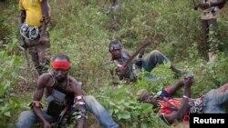 Une photo d'anti-balaka prise par Camille Lepage en Centrafrique