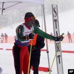 Kenya's first and only Winter Olympian, Philip Boit, at the Methow Valley SuperTour race