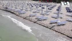 ცარიელი შავი ზღვის სანაპირო ბულგარეთში