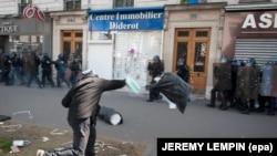 Manifestations a Paris le 1er Mai