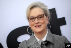 """Meryl Streep is pictured at the premiere of """"The Post"""" in Washington, Dec. 14, 2017."""