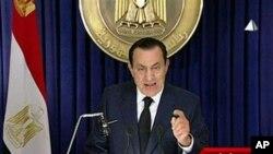 ປະທານາທິບໍດີ Mubarak ແຫ່ງອີຈິບ ກ່າວປາໄສທາງໂທລະພາບ ໃນຄືນວັນອັງຄານ ວັນທີ 1 ກຸມພາ 2011
