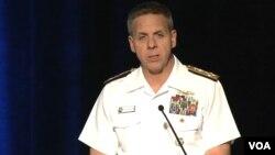 필립 데이비슨 미 인도태평양사령관이 22일 하와이 호놀룰루에서 열린 아시아태평양지상군, LANPAC 심포지엄에 참석했다.