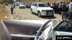 تصاویری از تیراندازی به خودروی فلاحت پیشه نماینده مجلس