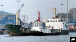 Ảnh minh họa: Tàu hàng tiến vào cảng Incheon.