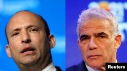 """""""Yeş Atid"""" partiyasının başçısı Yair Lapid və """"Yamina"""" partiyasının lideri Naftali Bennett"""