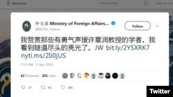 Taiwan on Xi Critic