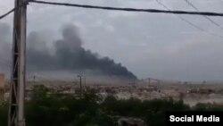 Ledakan di selatan Baghdad, Irak, 12 Agustus 2019. (Foto: media sosial)