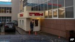 지난달 18일 러시아 모스크바의 북한 식당.