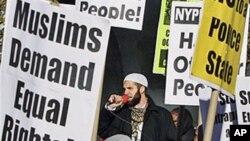 紐約穆斯林抗議受到警方歧視