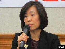 台湾经济部国贸局副局长江文若(美国之音 张永泰拍摄)