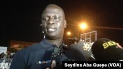 Amadou Gallo Fall, vice-président de la NBA et Directeur Général pour l'Afrique, à Dakar, 15 decembre 2017. (VOA/ Seydina Aba Gueye)