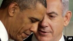 美國總統奧巴馬(左)和以色列總理內塔尼亞胡。(資料圖片)