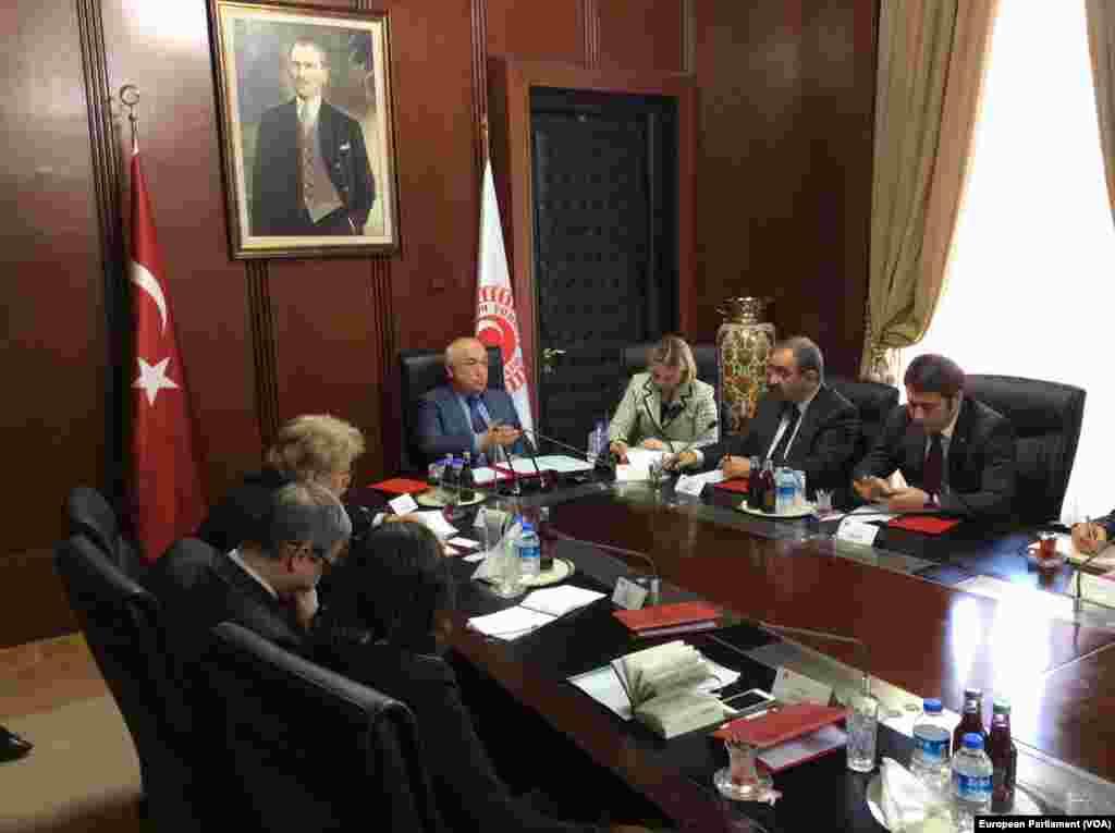 Avrupa Parlamentosu Dış İlişkiler Komitesi üyeleri Meclis Başkanı Cemil Çiçek'le