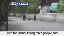 VOA60 Africa - Cyclone Enawo kills at least 3 in Madagascar; 500 homeles