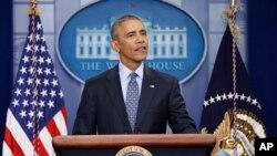 ABŞ prezidenti Barak Obama Amerika lideri kimi Ağ Evdə sonuncu mətbuat konfransında