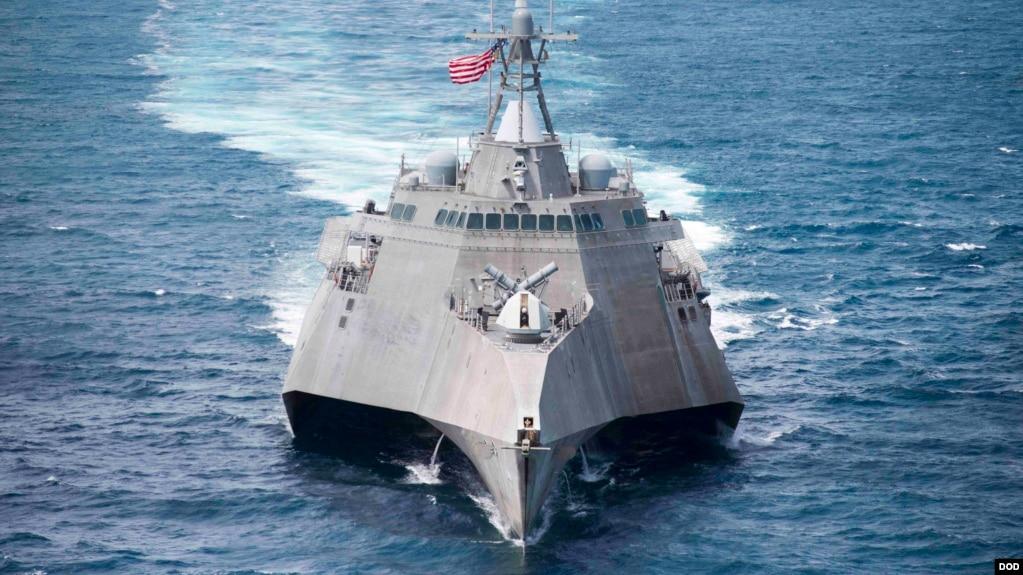 Tàu hải quân USS Coronado của Mỹ.