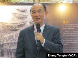 台湾总统府资政胡为真 (美国之音张永泰拍摄)