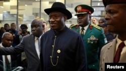 Shugaban Nigeriya President Goodluck Jonathan, Johannesburg Disamba 10, 2013.