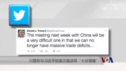 """川普称与习近平的首次面谈将""""十分艰难"""""""