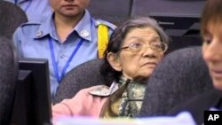 Ieng Thirith, the former social affairs minister of Khmer Rouge regime during trial, file photo.