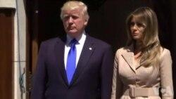 Donald Trump accueille Emmanuel Macron à l'ambassade américaine (vidéo)