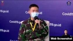 Kepala Sekretariat RSD COVID-19 Kolonel Laut (K) Dr RM Tjahja Nurrobi dalam telekonferensi pers di Graha BNPB, Jakarta, Senin (30:11) mengatakan pasien di RSD Wisma atlet terus meningkat (Foto: VOA)