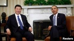 美國總統奧巴馬和中國國家主席習近平2012年2月14日曾經在白宮會面。(資料圖片)