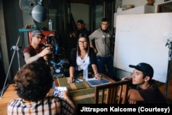 Champ Ensminger (lower right) directed and produced Yai Nin, a short documentary about his grandmother, Ninlawan Pinyo, the matriarch of the family.