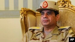 FILE - Egypt's former Defense Minister Abdel Fattah el-Sissi, May 22, 2013.
