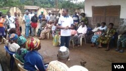 Gifted Mom introduced to pregnant women in Bafut, north western Cameroon. (Moki Edwin Kindzeka for VOA News)