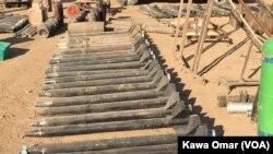 Zam endijèn gwoup Eta Islamik la fabrike e ke lame irakyen an sezi pandan operasyon pou reprann Mosoul, Irak.Foto: Kawa Omar (VOA)